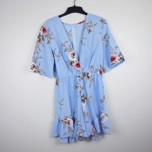 Other - 🟡Blue floral ruffle romper